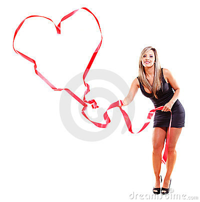 Woman making a heart