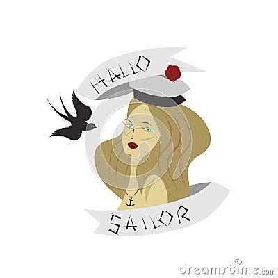 Woman maritime symbols