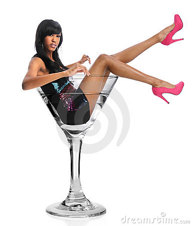 Woman In Martini Glass
