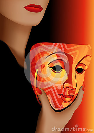 Woman and mask