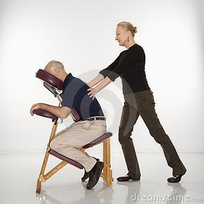 Free Woman Massaging Man. Stock Photos - 2425443