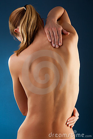 Free Woman Massaging Pain Back Stock Images - 15962144