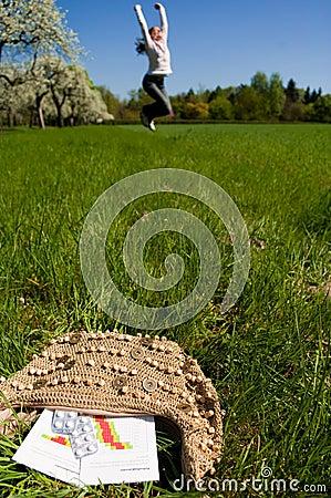 Woman meadow medicine