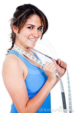 Woman with a measure tape