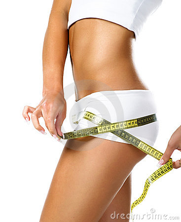 Free Woman Measuring Perfect Shape Of Beautiful Hips Royalty Free Stock Photography - 13769617
