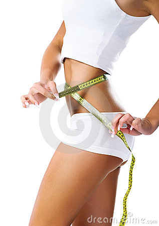 Free Woman Measuring Perfect Shape Of Beautiful Waist Stock Image - 13543341