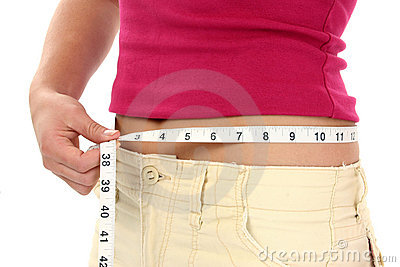 Woman with Measuring Tape Around Waist