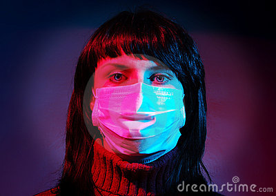 Woman in a medical mask