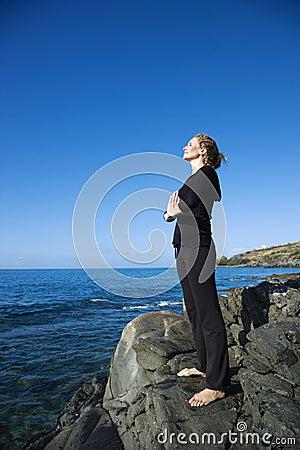Free Woman Meditating. Royalty Free Stock Photography - 3418947
