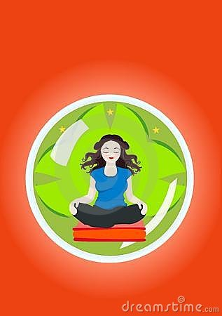 Woman in mental Yoga isolation
