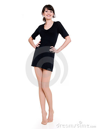 Woman in minidress