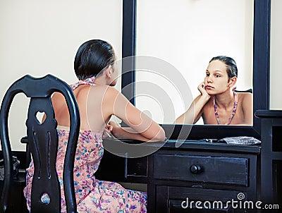 Woman &  mirror