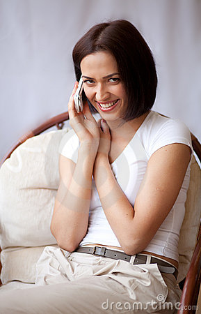 Woman with mobilephone