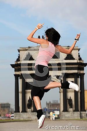 Woman modern ballet dancer