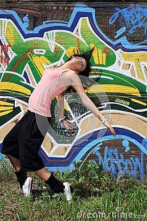 Woman modern dancers
