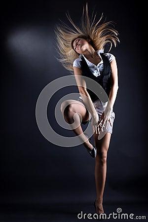 Woman modern P nB dancer
