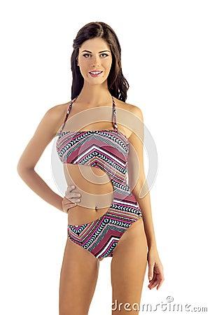Woman in Mono Kini Bikini