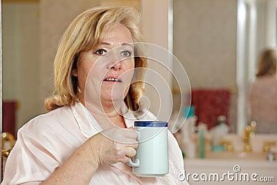 Woman morning coffee