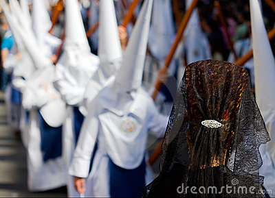 Woman Mourner in Spanish Procession
