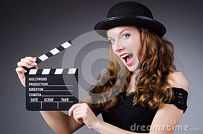Woman with movie