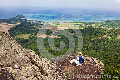 Woman on Mt Nosoko, Ishigaki