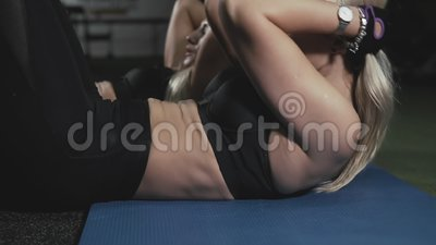 Fitnessstudio Workout Blonde Teens