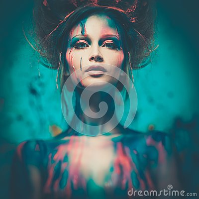 Free Woman Muse With Body Art Stock Photography - 38518162