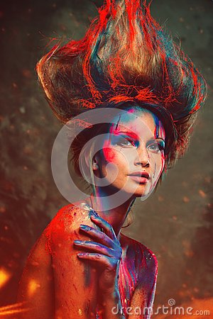 Free Woman Muse With Creative Body Art Royalty Free Stock Image - 40984386