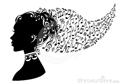 Woman With Music Notes Vector Stock Images Image 24476914