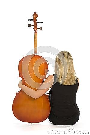 Free Woman Musician With Cello Stock Photos - 7787173