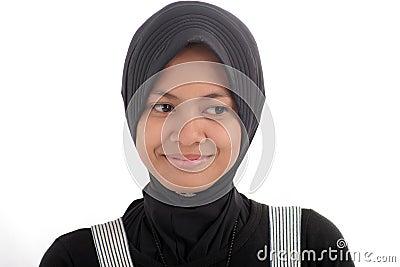 Woman in muslim dress