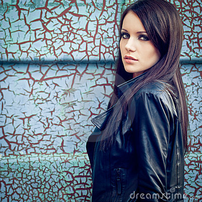Free Woman Near Cracked Wall Royalty Free Stock Photography - 22713917