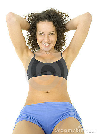 Woman with nice abdomen