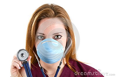 Woman Nurse Stethoscope