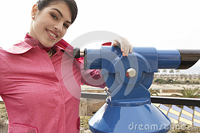 Woman at Observatory Smiling