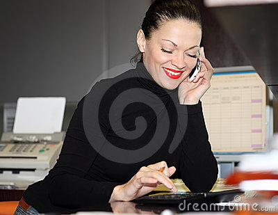 Woman In Office Stock Photos - Image: 24241673