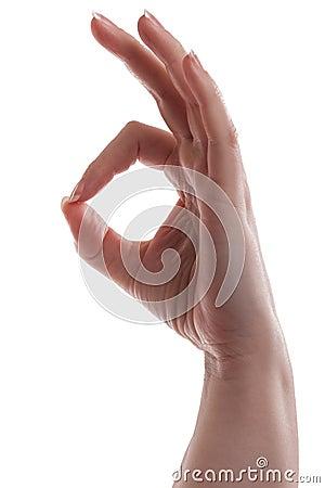 Woman Ok Hand Gesture