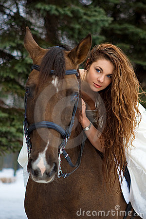 Free Woman On A Horse Stock Photography - 7959262