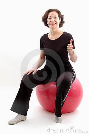 Free Woman On Fitness Ball Royalty Free Stock Photo - 502825