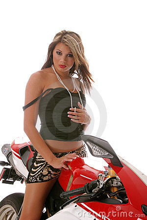 Free Woman On Motorcycle Stock Photos - 3164503