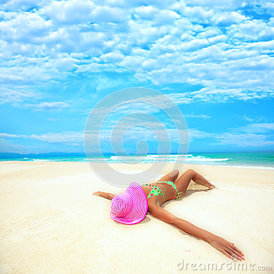 Free Woman On The Beach Stock Photo - 9997870