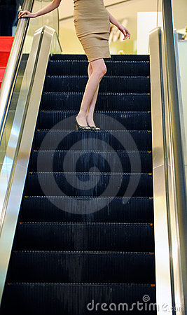 Free Woman On The Elevator For Shopping Royalty Free Stock Photo - 13652115