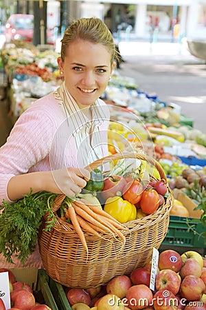 Free Woman On The Fruit Market Stock Photo - 5274880