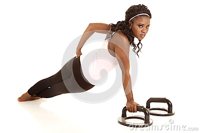 Woman one arm pushup back