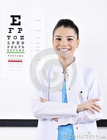 Free Woman Optician Or Optometrist Stock Photography - 39034792