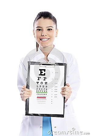 Free Woman Optician Or Optometrist Stock Image - 39157021