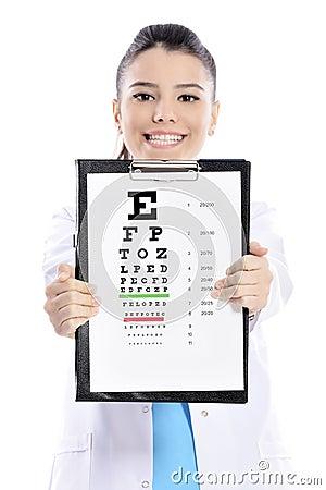 Free Woman Optician Or Optometrist Royalty Free Stock Image - 49055166