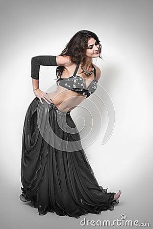 Woman oriental dancer dress