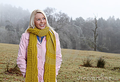 Woman out in nature