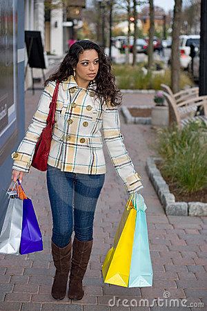 Woman Out Shopping the Town